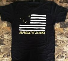 "PORTUGAL.THE MAN ""Represent Alaska"" Ltd Ed NEW RARE L Metallic Print T-Shirt!"