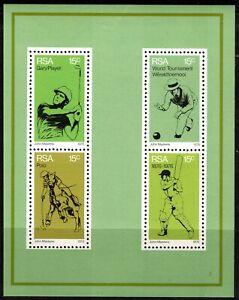 South Africa 1976 Sports Anniversaries - Normal Paper - Minisheet - MUH