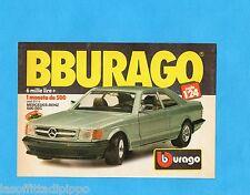 TOP987-PUBBLICITA'/ADVERTISING-1987- BURAGO - MERCEDES-BENZ 500 SEC Scala 1:24
