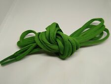 """Green Half Round Shoelaces 44"""" inch Long For trainers football boots pumps shoes"""