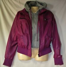 Yoki Girls Coral Faux Leather Outerwear Jacket Size 4 5//6 6X $68
