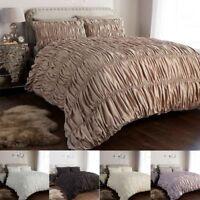 Duvet/Quilt Cover Set Single Double Super King Size Pillowcases Luxury Bedding