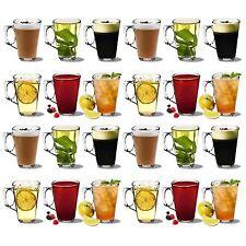 Latte Glasses Cappuccino Glass Tassimo Costa Coffee Cups Mugs - 250ml - x24