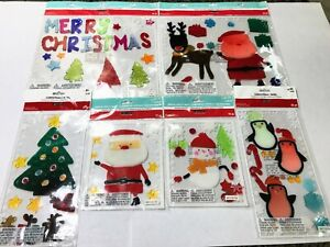 Lot of Six Different Sets Ashland Christmas Window Gel Clings Brand New