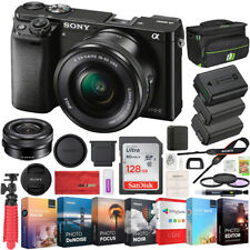 a6000 Sony Alpha Mirrorless Digital Camera ILCE-6000L/B 16-50mm Lens Bundle