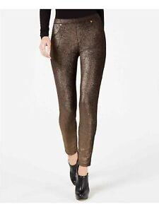 MICHAEL KORS Womens Black Skinny Party Leggings Petites Size: PL