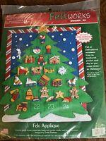 Dimensions Feltworks Kit Christmas Tree Countdown 8125 Sealed Felt Calendar