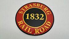"Strasburg Railroad 1832 12"" Retro Steam Locomotive Tin Sign Htf"