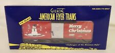 "AMERICAN FLYER #6-48346 ""MERRY CHRISTMAS"" 2002 CHRISTMAS BOX CAR-NIB!"