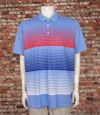 Adidas ClimaLite Purple Striped Casual Tech Golf Polo Shirt Mens XL