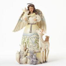 Jim Shore Woodland Angel w/ Rabbit & Animals Figurine ~ Peace To All ~ 4041084