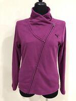 Puma Woman Pink Jacket Size Large Long Sleeves  Full Zipper