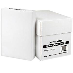 PRINTING PAPER A4 80GSM WHITE PLAIN PRINTER SHEET REAMS CRAFT SCHOOL STATIONARY