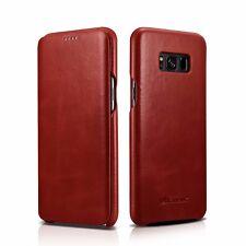 iCarer Echt Leder Case für Samsung Galaxy S8 / Plus Handy Tasche Schutz Hülle