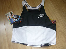 Speedo Mens Running/Triathlon Vest new with tags black white small