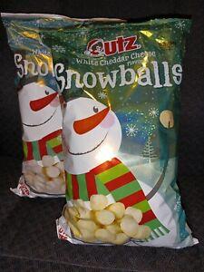 14 NEW UTZ WHITE CHEDDAR CHEESE SNOWBALLS GLUTEN FREE 12 OZ BAGS 2021-04-03