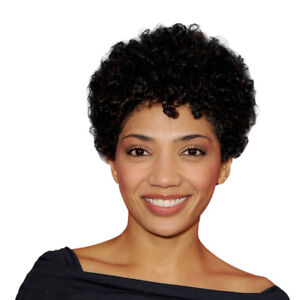 Afro Kinky Curly Human Hair Wig African American Short Wig for Black Women
