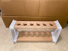 Job Lot 14 X Edu- Lab Test Tube Rack Holder Stand Wooden 6 Hole 20mm
