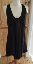 Black Ladies Halter Neck Sexy Grecian Short Dress Size 8-10