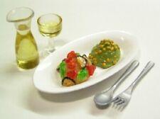 Miniature Re-ment Cafe Food - Mo. 5 Pasta & White Wine Set
