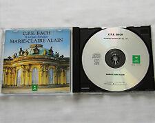 Marie Claire ALAIN/C.P.E. BACH 6 organ sonatas GERMANY CD ERATO 0630-14777 (1996