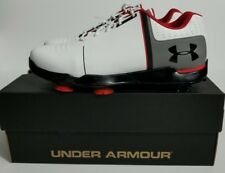95ebe160cb08 UNDER ARMOUR UA Spieth One Jr BOYS Golf Shoes White Black Red 1301154-108 SZ