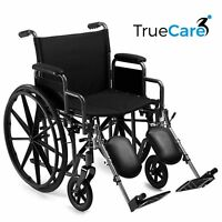 Self Propelled Wheelchair lightweight folding Manual Wheelchair Padded Leg Rests