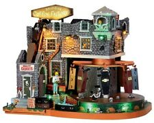 Lemax 2014 Halloween Box-Of-Bones Coffin Factory #45669 NIB