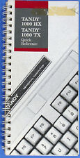 Radio Shack Tandy 1000 HX 1000 TX Quick Reference Manual