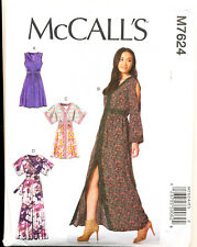 MCCALL'S SEWING PATTERN 7624 MISSES SZ 6-14 DRESSES & MAXI, KIMONO STYLE OPTION