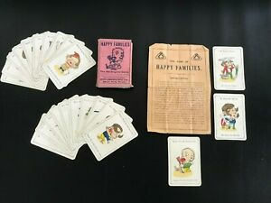 Vintage Jaques&Sons Happy Families Card Game with instructions