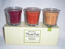 Partylite Market Fresh Scented Mini jar Trio - Nib