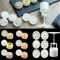 Rose Flower Moon Cake Round Mooncake Mold Decor 3D Silicone 6 Style Mould