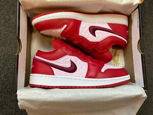 Nike Air Jordan 1 Low Red Quilt (GS) | Brand New | Multiple Sizes
