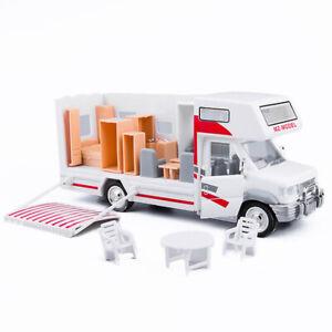 1:28 Luxury Camper Van Motorhome Model Car Diecast Toy Vehicle Sound & Light