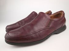 CLARKS UNSTRUCTURED Brown Leather Loafers Shoes Sz 11 M