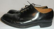 Craddock-Terry, Vintage Men'S Black Leather Oxford, Size 9 R