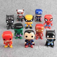 10X The Avengers Super Hero Hulk Captain Batman Figure Action Toy 10cm 4''