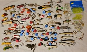 Lot 84 Vintage Fishing Lures Hiluebrand Kingspin Lucky Devil Rapala South Bend