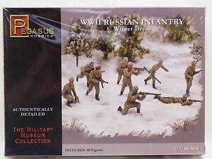 Lot 14310 Pegasus 7269 Seconde Guerre Mondiale Infanterie Russe Hiver Robe 1:72