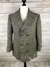 VINTAGE Tweed Overcoat - UK18 - Wool - Double Breasted - Great Condition