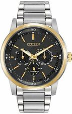 New Citizen BU2014-56E Men's Dress Eco Drive Two Tone Stainless Steel Watch