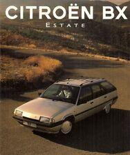 Citroen BX Estate 1993-94 UK Market Foldout Brochure 16 TXi 19 TXD TZD Turbo