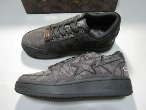 23954 bape x coach bapesta #1 black US10