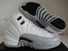 NIKE AIR JORDAN 12 RETRO GG WHITE-BLACK-GREY SZ 7Y-WOMENS SZ 8.5 [510815-108]