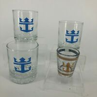 Set of 3 Royal Caribbean Cruise Line Cocktail Glasses w/Shot Glass - Bundle
