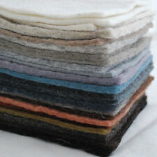 Handmade 100% Wool Felt Fabric - 5mm Thick - 22 Assorted 15cm Felt Square Sheets