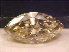 EXCELLENT AUSTRALIA ARGYLE MARQUISE DIAMOND HONEY CHAMPAGNE .59 CT VVS2 CLEAN