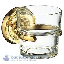 smedbo Villa d'Este gold-farben Gobelet à dents wand-halter verre Set laiton