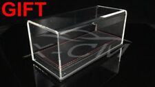 Car Model Transparent Display Show Case Leather Like Base 1:43 (Black)